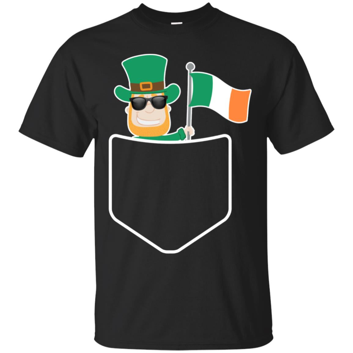 Leprechaun Irish Flag in Pocket Shirt Ireland St. Pattys Day 99promocode