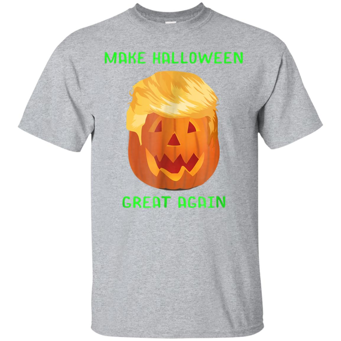Awesome Make Halloween Great Again Funny Trumpkin T-Shirt 99promocode