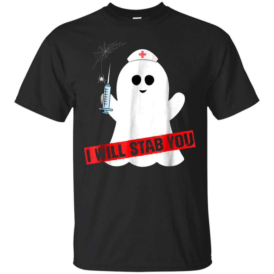 I will stab you shirt nurse ghost Halloween costume 99promocode