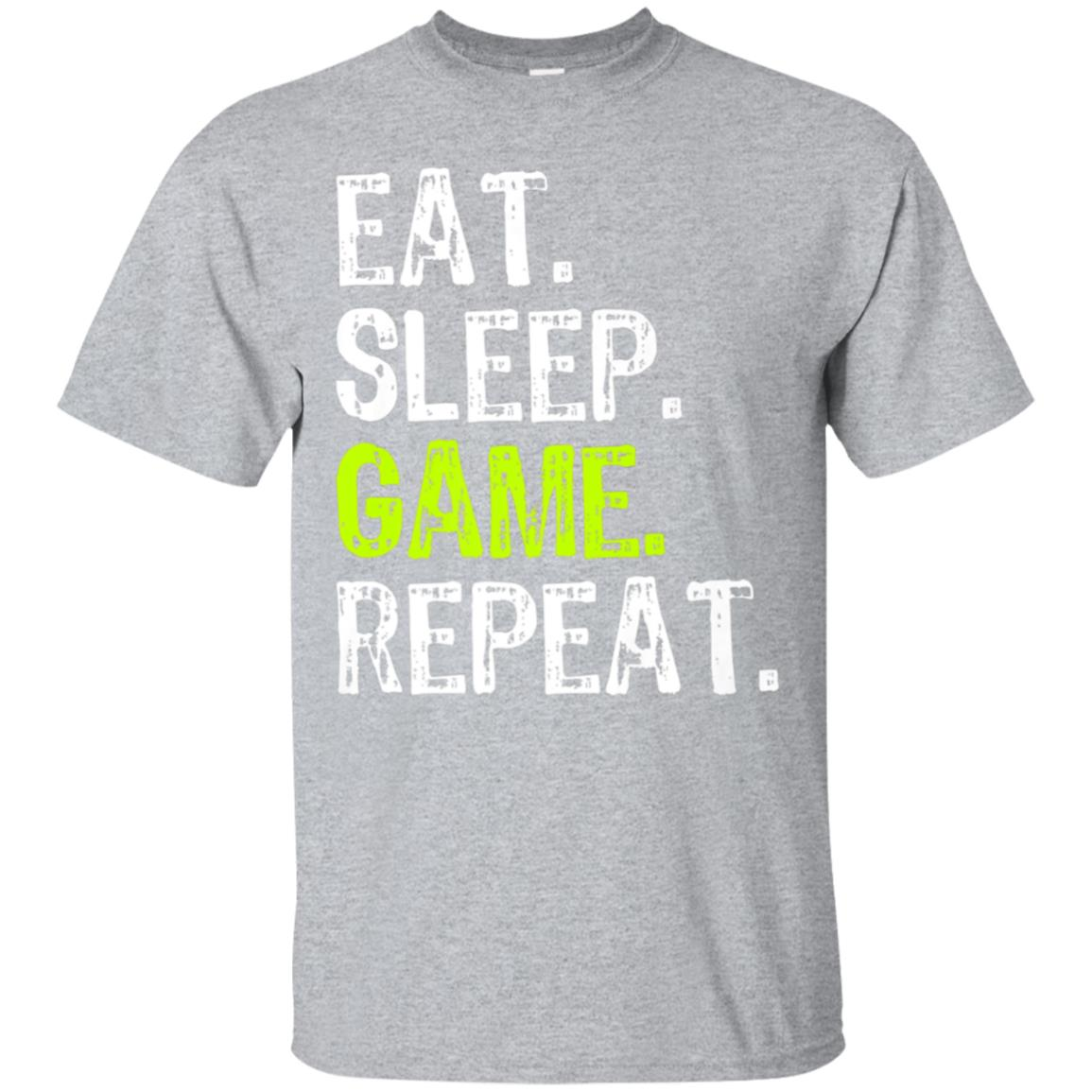 404ccd378c0 Awesome eat sleep game repeat t shirt - 99promocode
