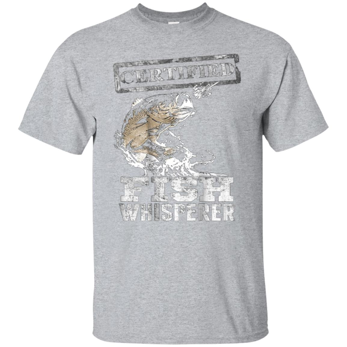 Fishing t shirts for men Certified Fish Whisperer 99promocode