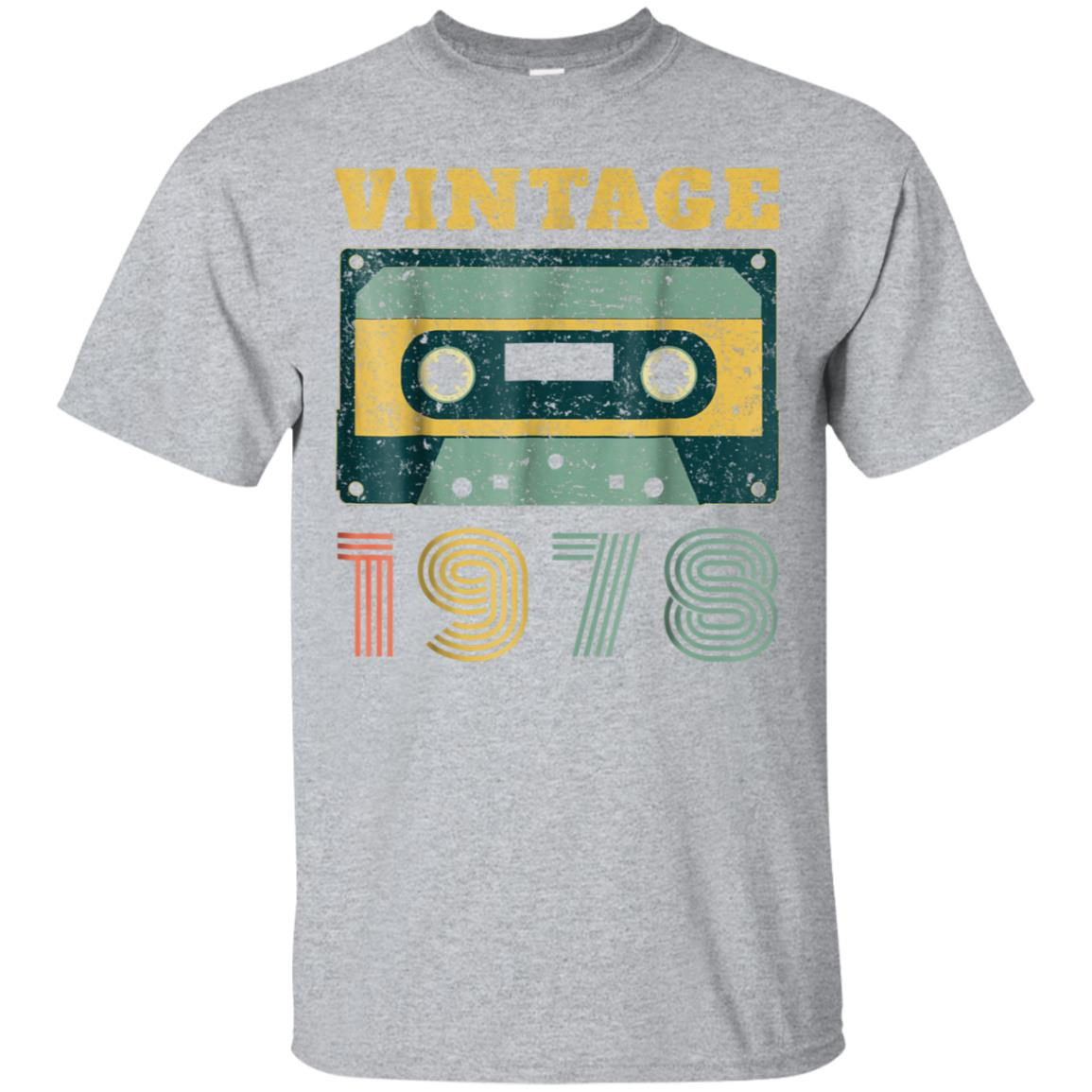 40th Birthday Gift Vintage 1978 Year Old Mixtape T-Shirt 99promocode