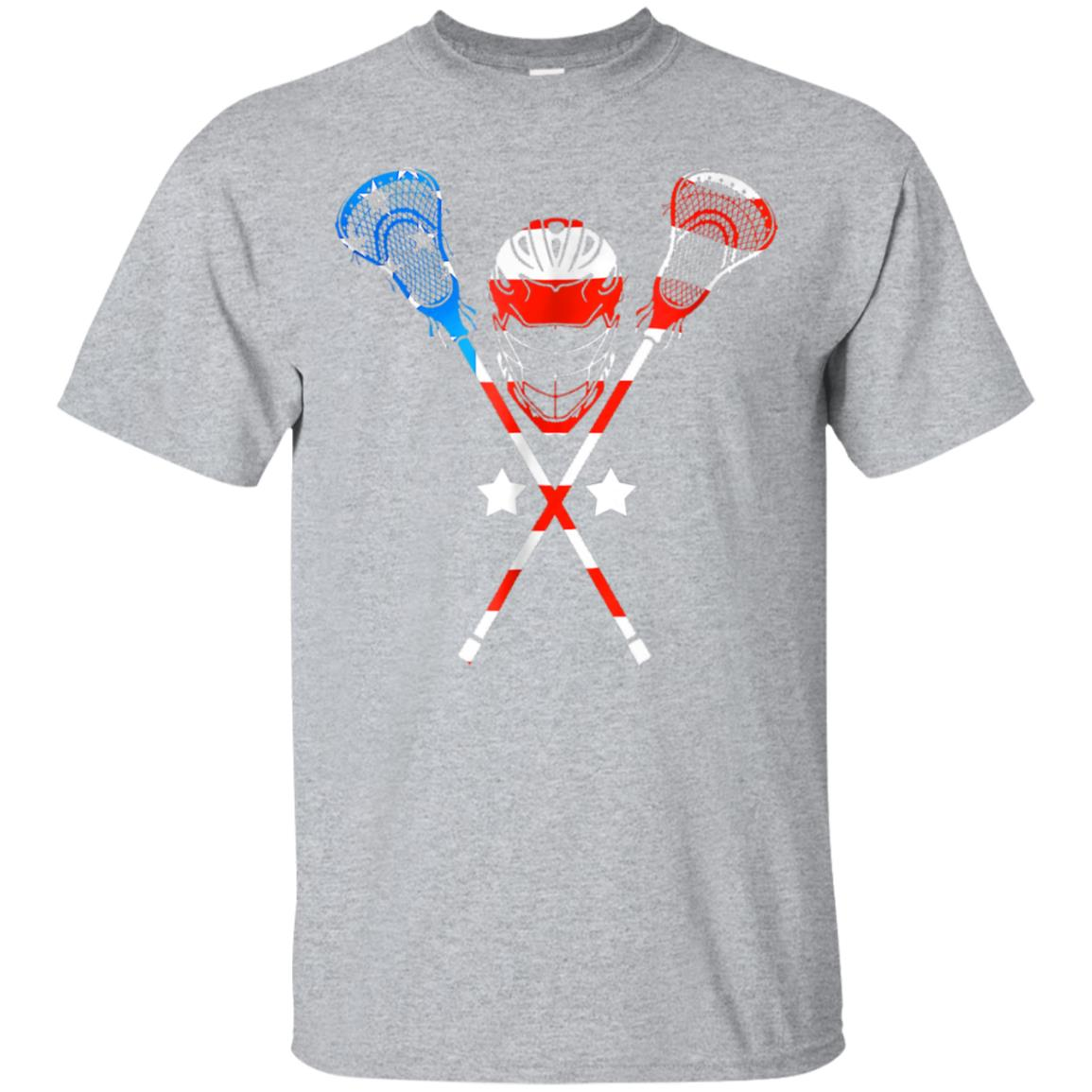 4th Of July American Flag Patriotic Lacrosse T-Shirt 99promocode