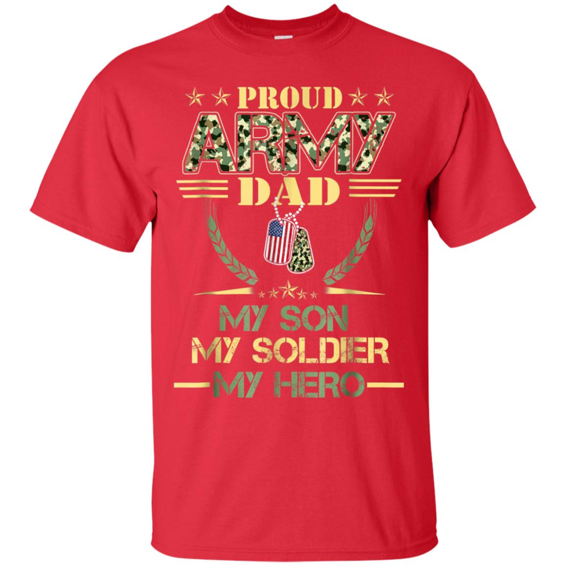 109dd273 Awesome proud army dad son veteran t shirt veteran day gift ...