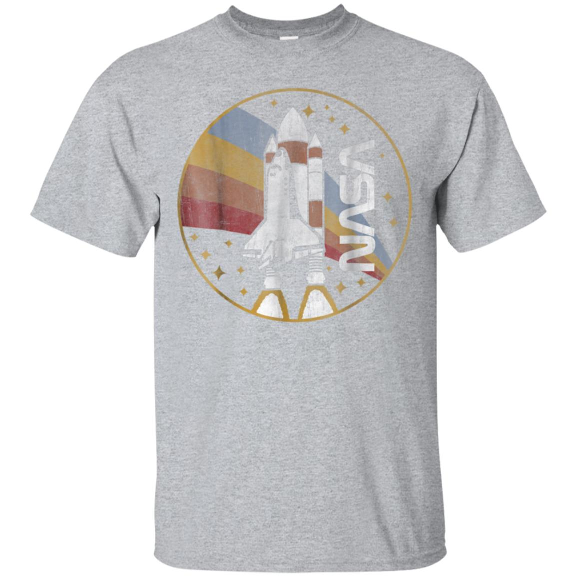 NASA Shuttle Launch With Rainbow Graphic T-Shirt 99promocode