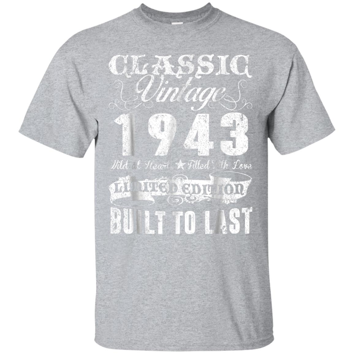 Vintage 1943 Shirt 75th Birthday Gifts 75 Years Old Awesomne 99promocode