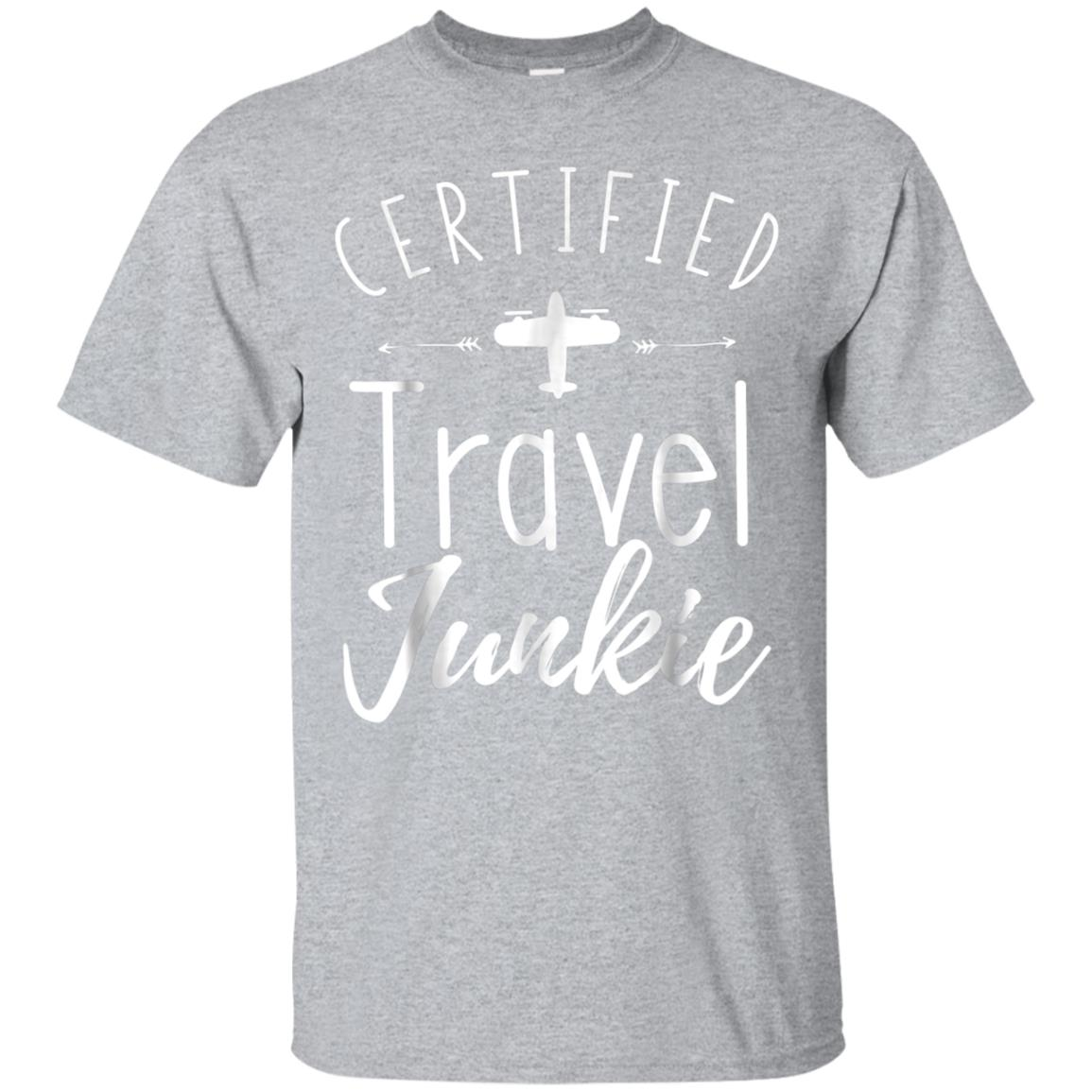 Certified Travel Junkie T-shirts for Men and Women 99promocode
