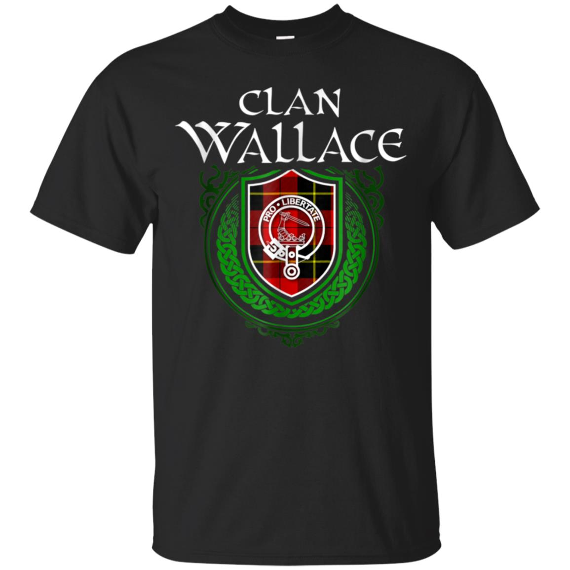 Wallace Surname Scottish Clan Tartan Crest Badge T-shirt 99promocode