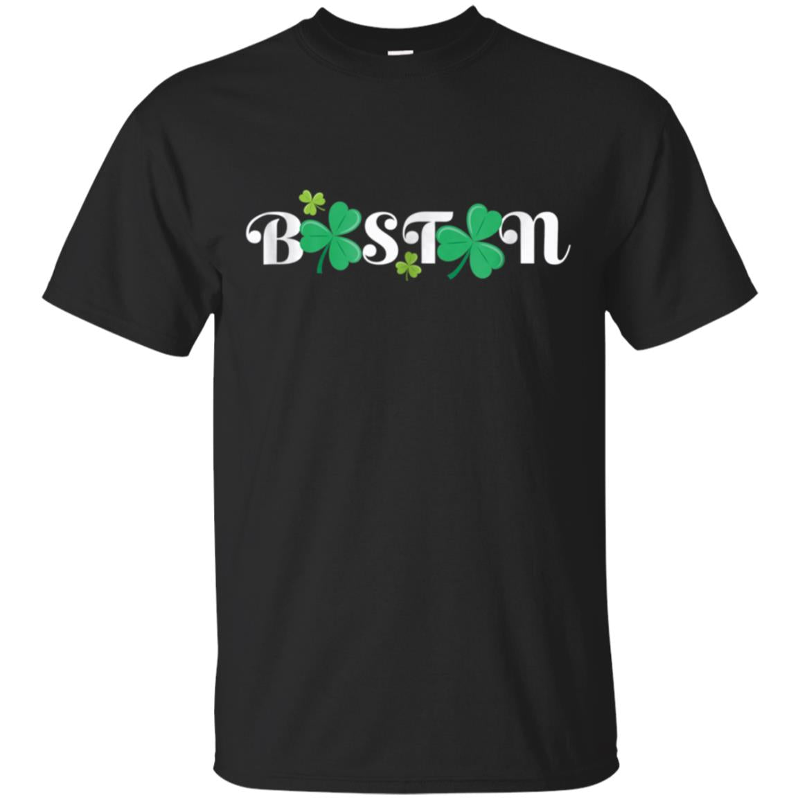 Boston T-shirt with Shamrock St Paddy Day T Shirt 99promocode
