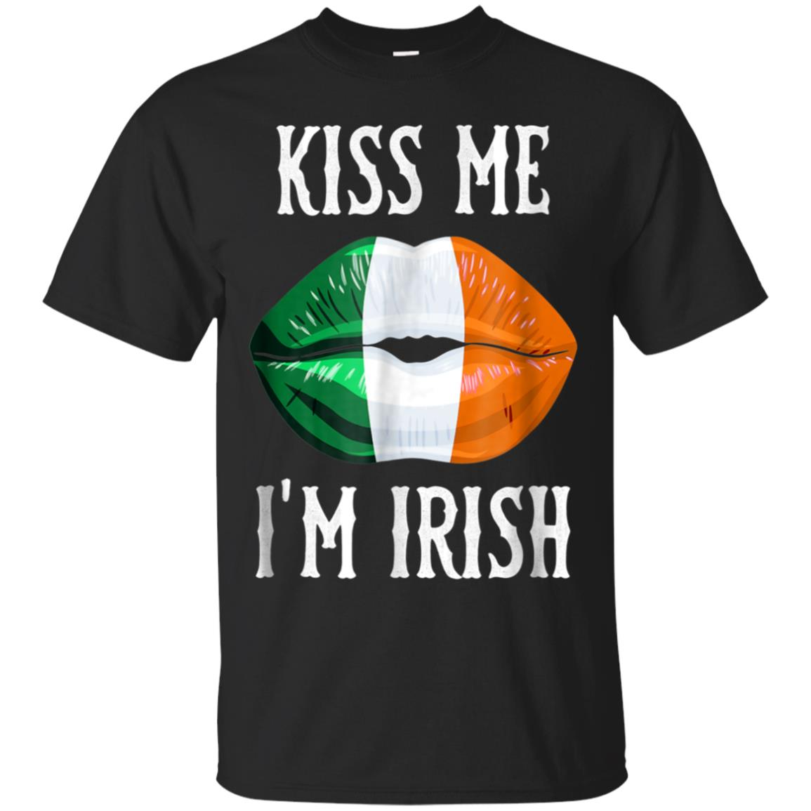 Kiss Me! I'm Irish! Flag Lips, Ireland Pride T-Shirt 99promocode