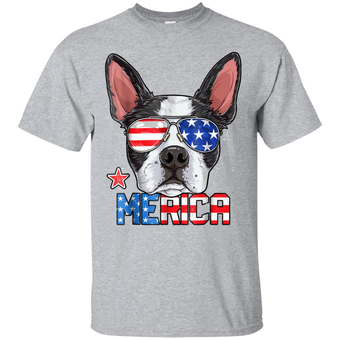 Boston Terrier Merica 4th of July T shirt Men Boys Dog Puppy 99promocode