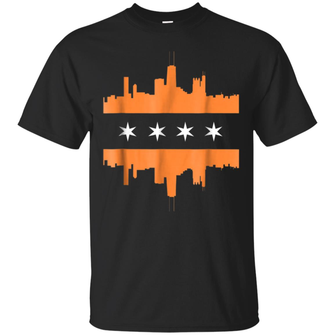 CHICAGO SKYLINE Orange St Patricks Day Ireland Irish T Shirt 99promocode