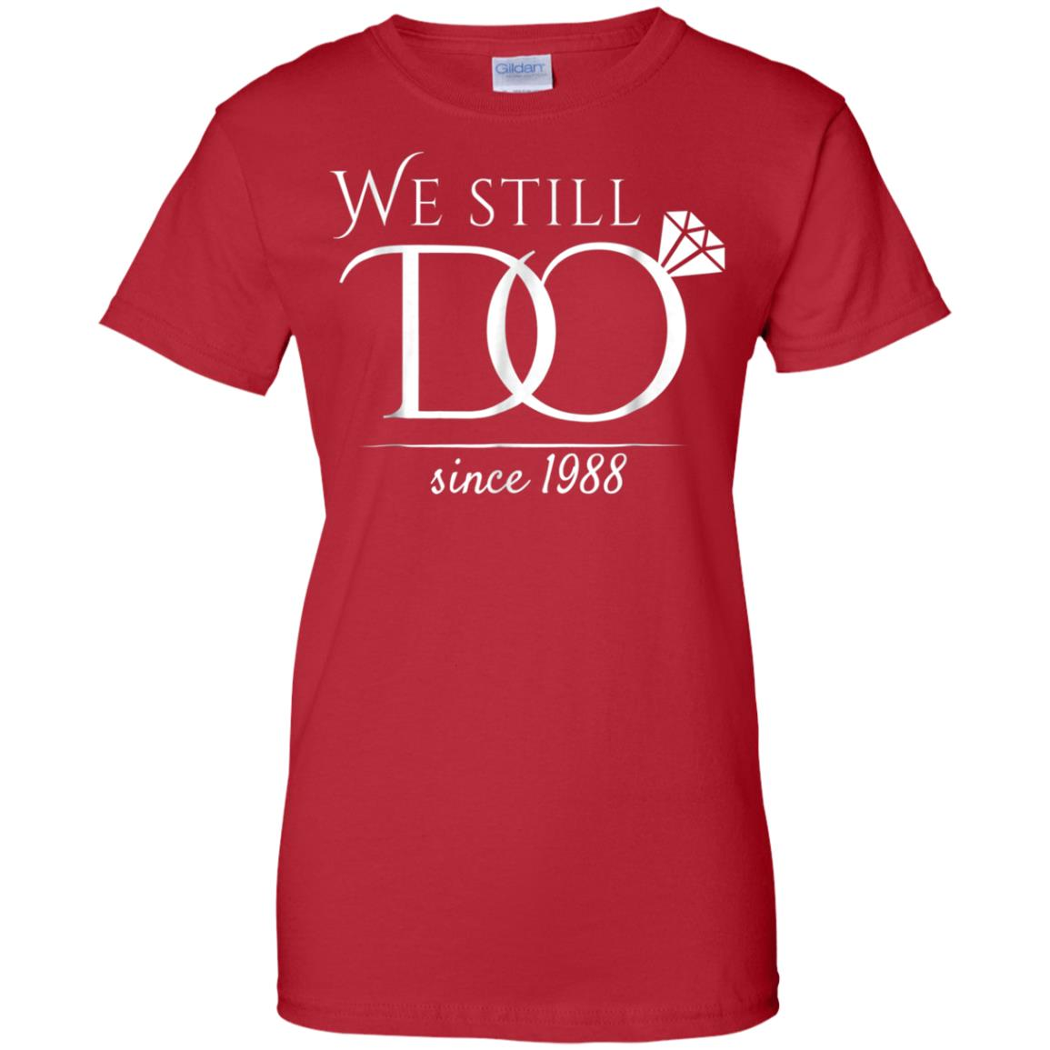 0ad1e14b Awesome 30th wedding anniversary t shirt funny for married in 1988 w ...