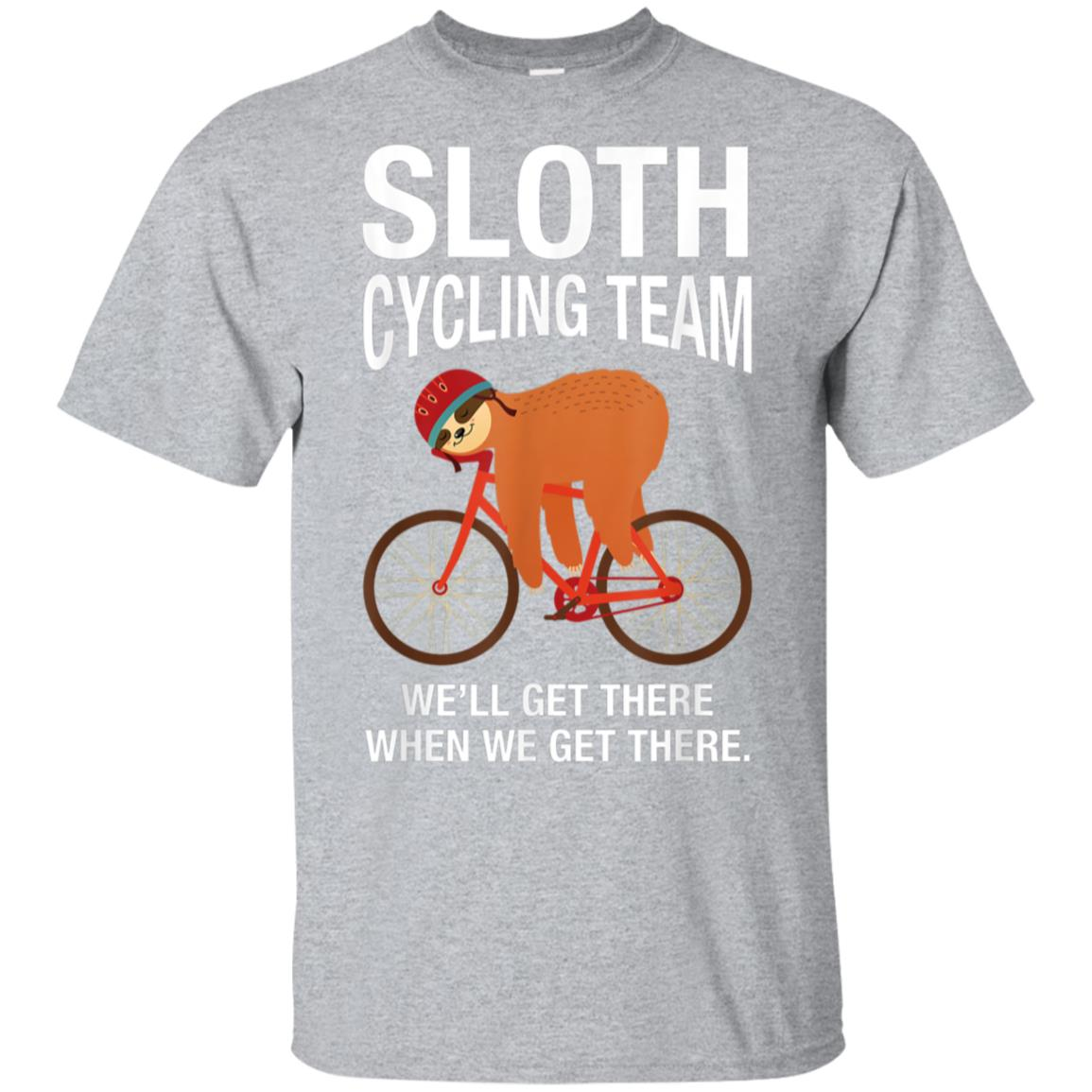 Sloth Cycling Team - Lazy Sloth Sleeping On Bicycle T-Shirt 99promocode