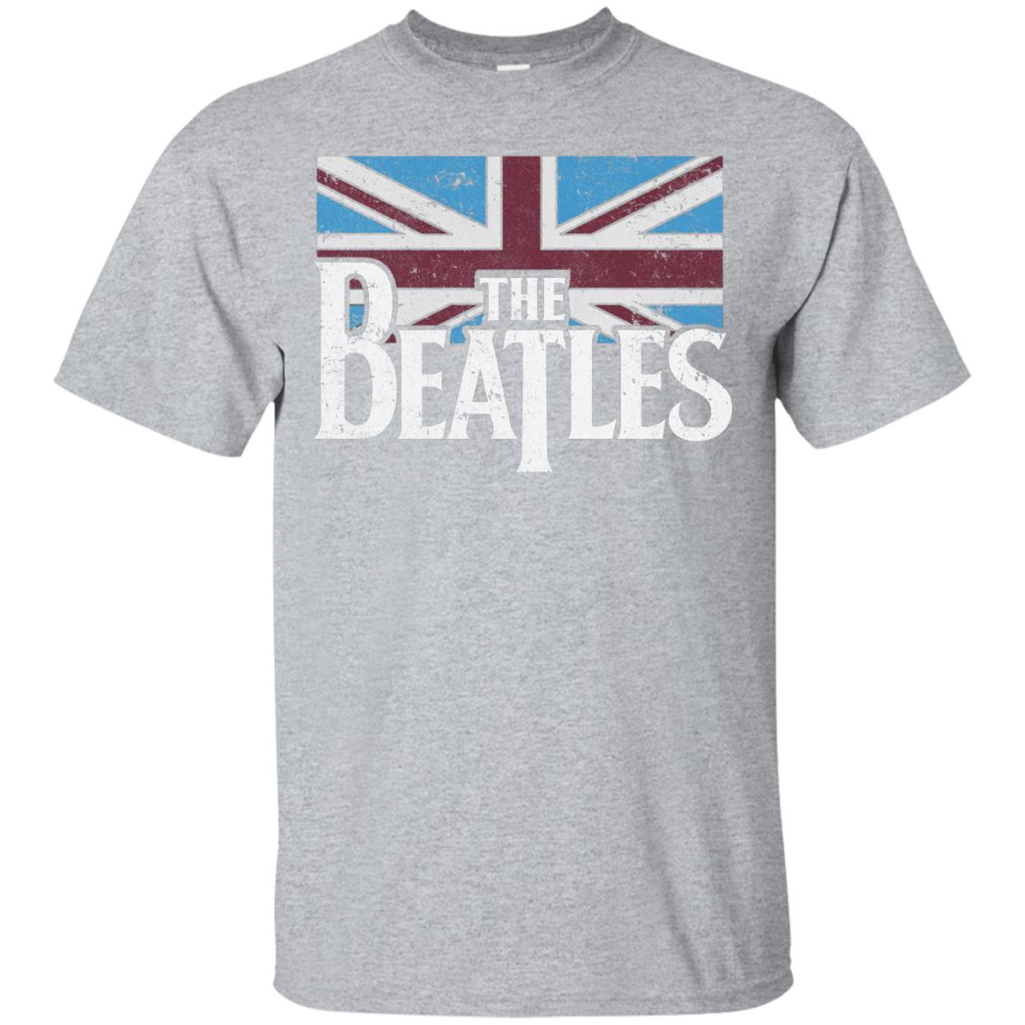 The Beatles British Flag Red,white, and Blue T-shirt 99promocode