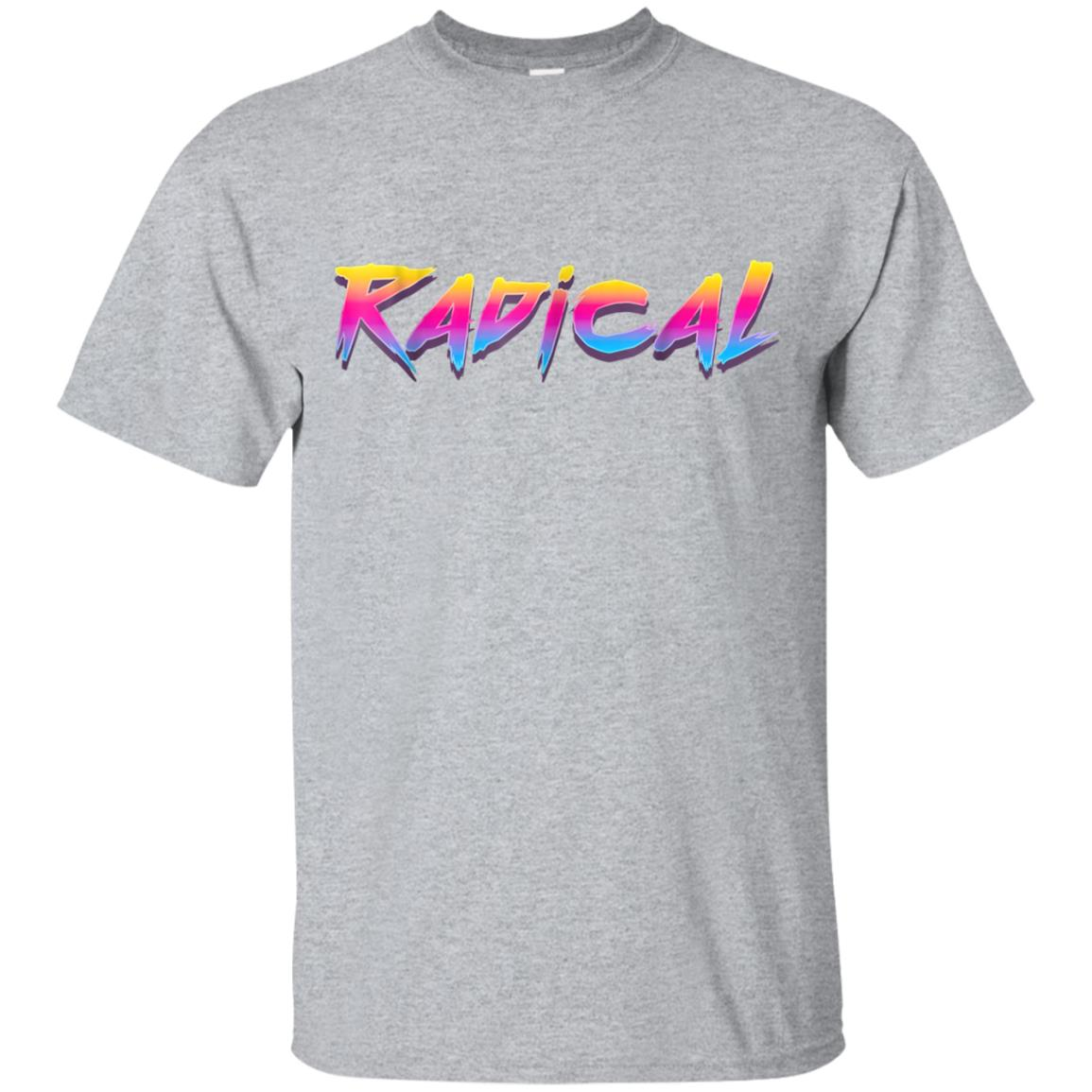 Radical Retro 80s 90s Vintage Neon T-Shirt Outrun Synthwave 99promocode