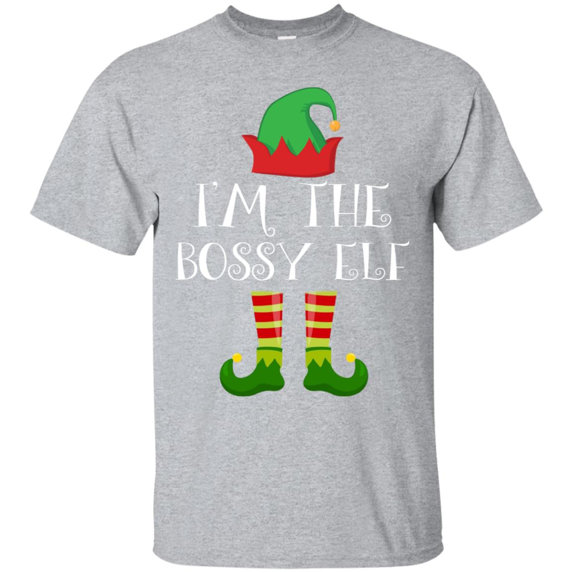 I'm The Bossy Elf Matching Family Group Christmas T Shirt 99promocode