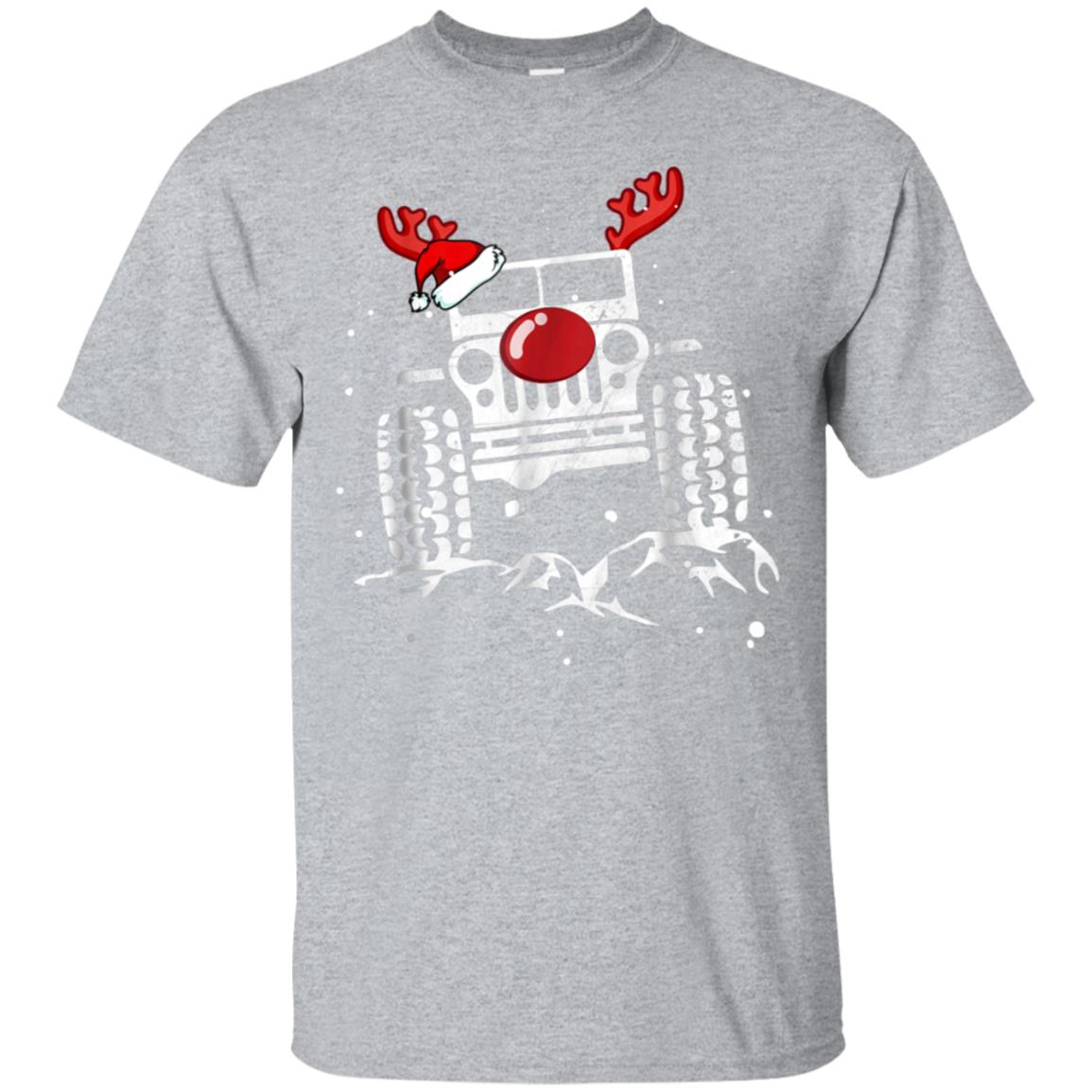 Funny Jeep Reindeer Christmas Holiday T Shirt Gift Costume 99promocode