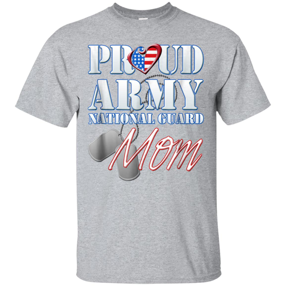 Proud Army National Guard Mom USA Heart Shirt Mothers Day 99promocode