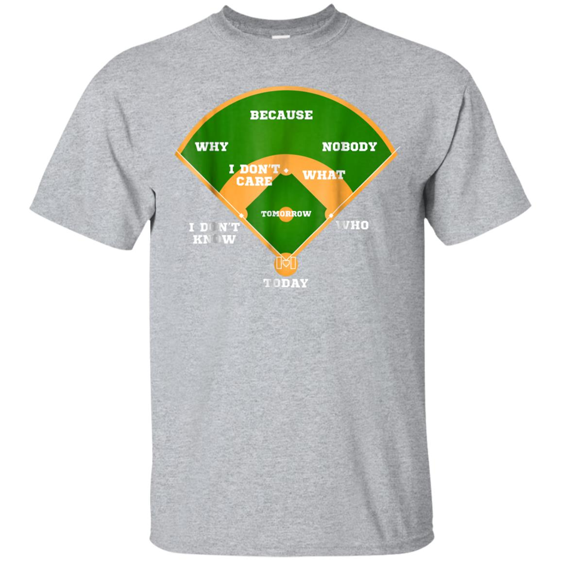 Who's on First Baseball Diamond Fielding Card T Shirt 99promocode