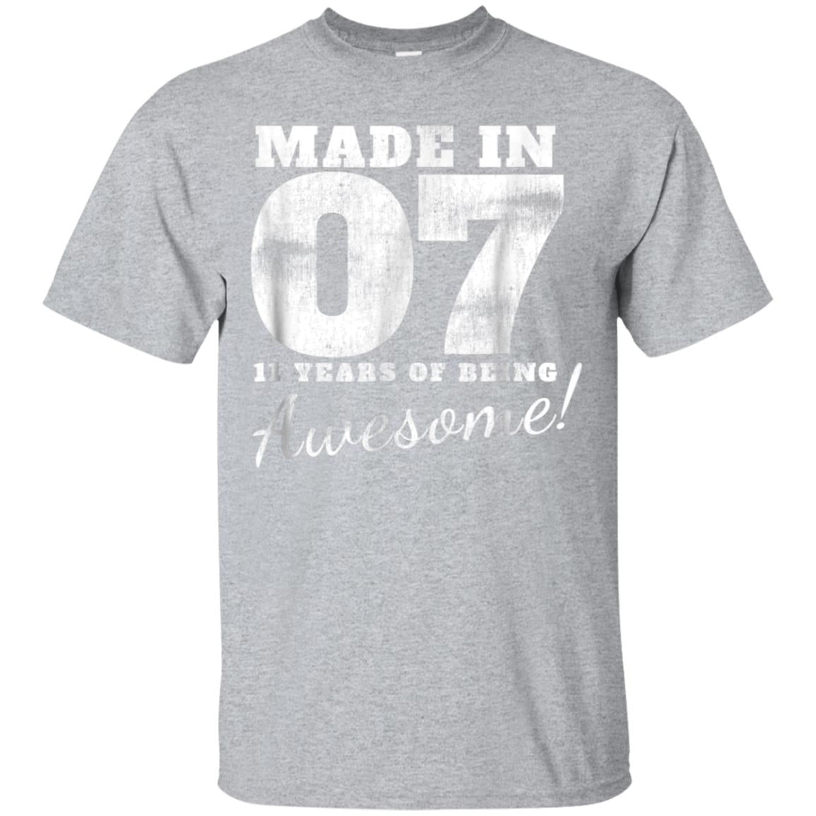 11th Birthday Boy 11 Year Old Gifts Made In 2007 Shirt 99promocode