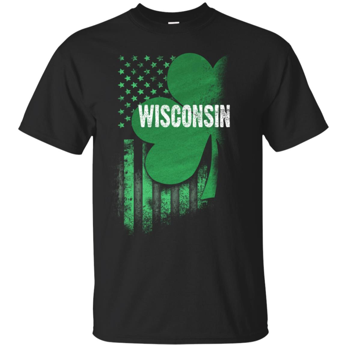 Wisconsin State USA Flag Irish Lucky Shamrock Patricks Day 99promocode