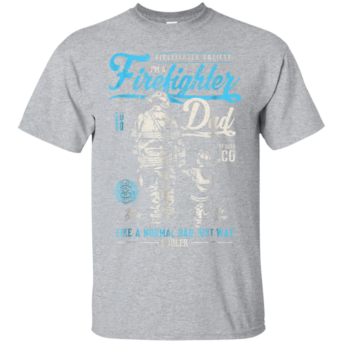 Firefighter Father's Day T-Shirt Retro Dad Xmas Gifts 99promocode