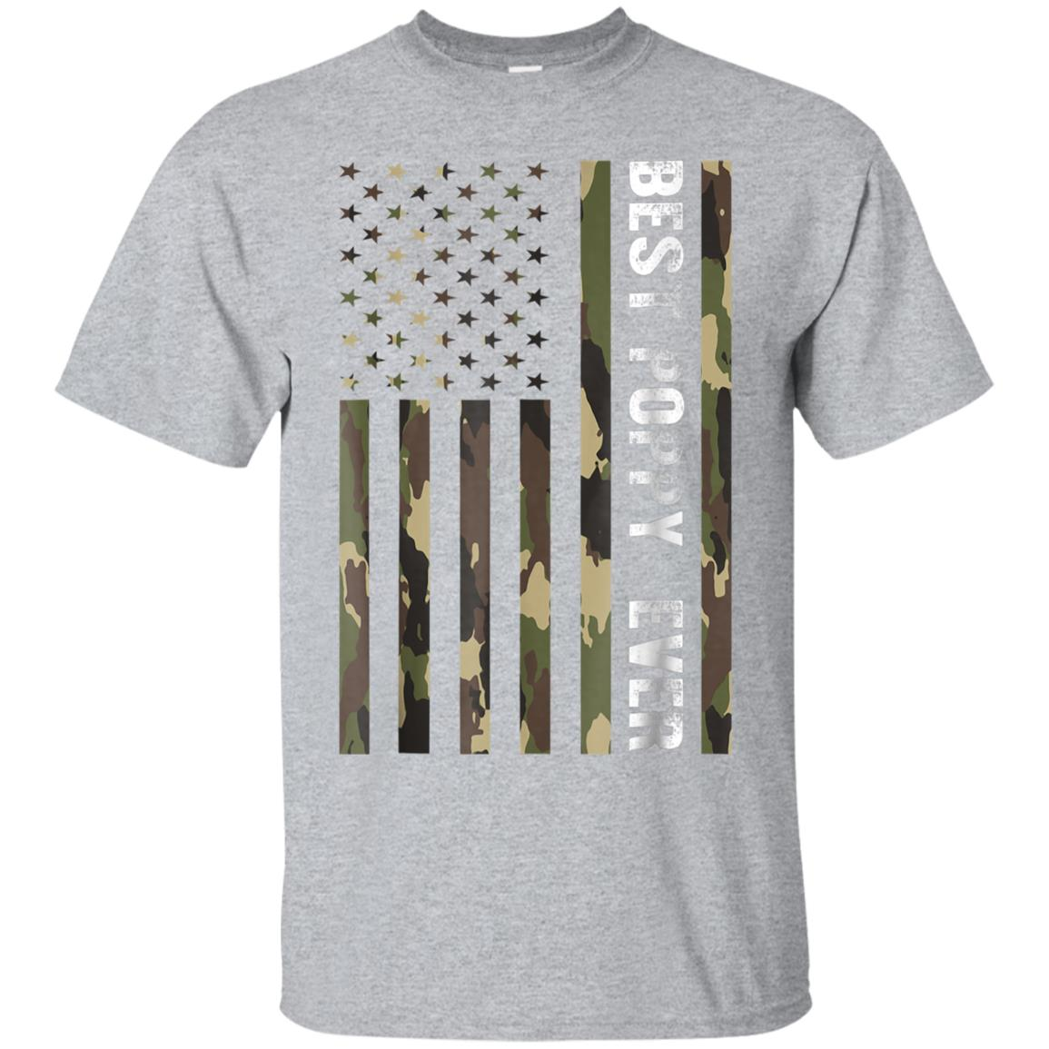 Mens Best Poppy Ever American Flag Camo T-Shirt Fathers Day Gift 99promocode