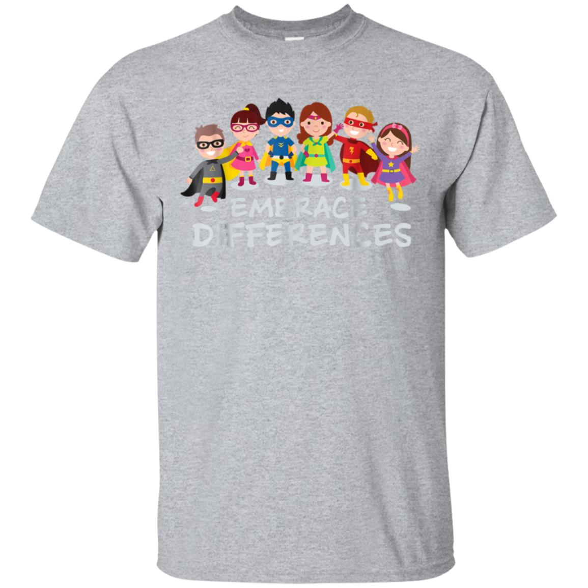 Embrace Differences Autism Awareness Superhero Kids T Shirt 99promocode