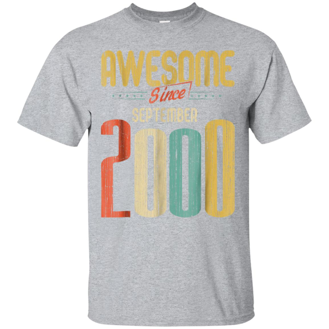 Awesome 18th Birthday Shirt For Her Him Are Born In September 2000