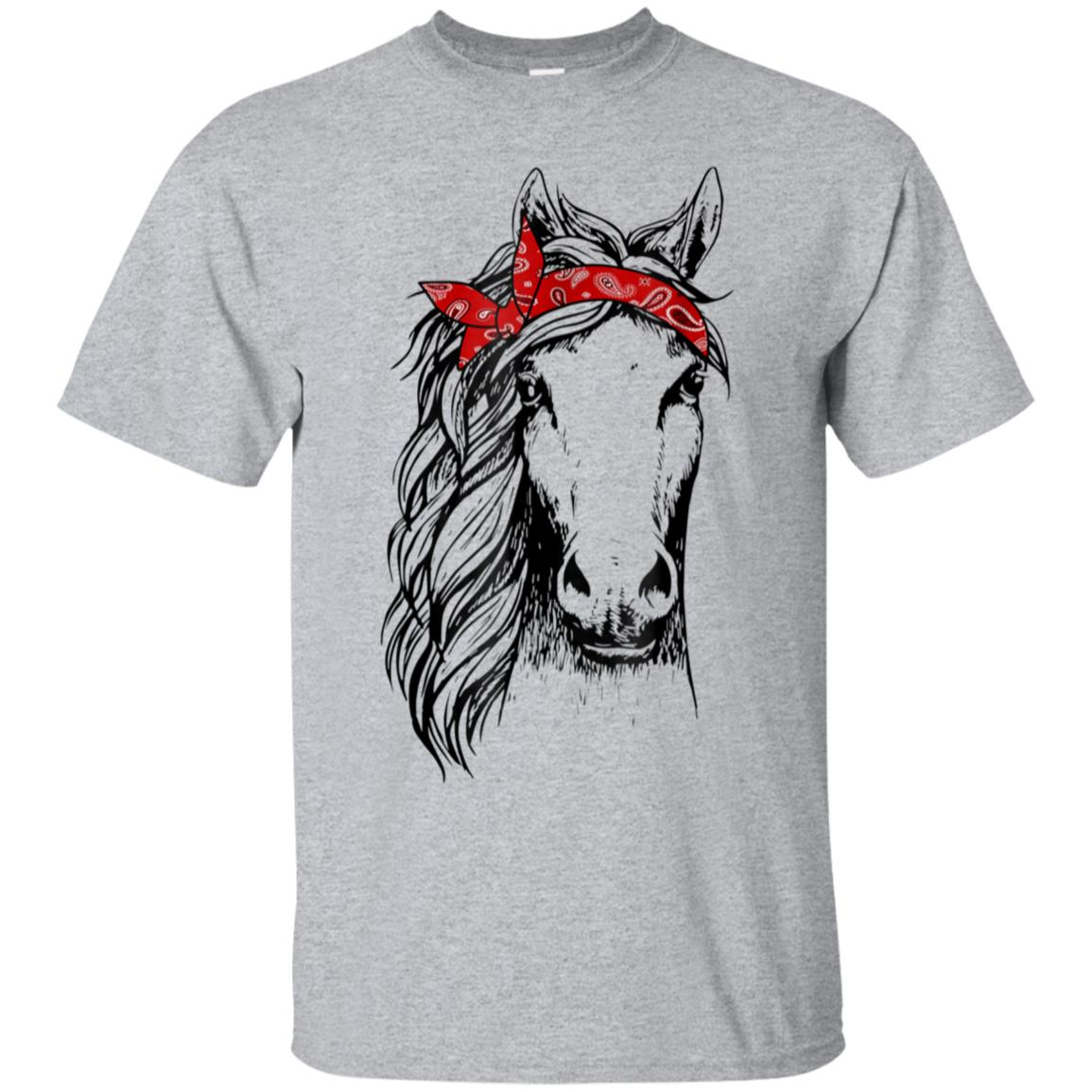 Horse Bandana T Shirt for Horseback Riding Horse Lover 99promocode