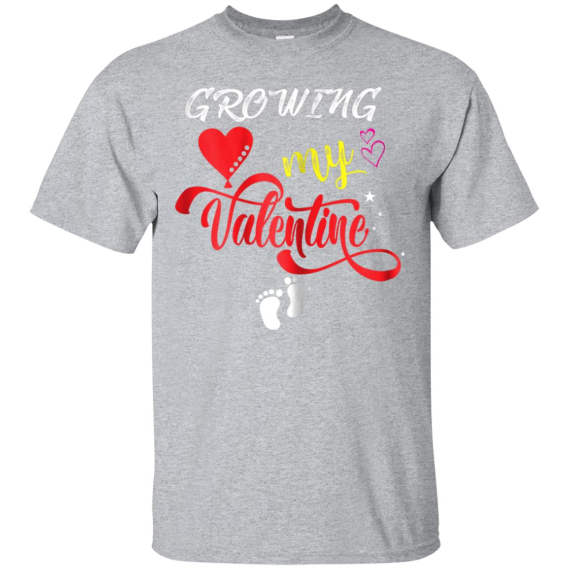 Growing My Valentine Shirt For Wife With Funny Baby Feets 99promocode