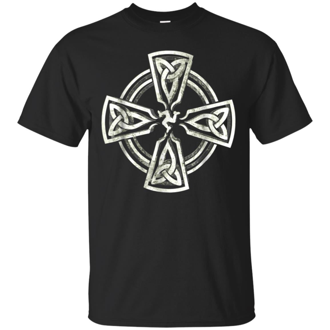 Celtic Cross Shirt Manx Irish Cross Celtic Knots Vintage 99promocode