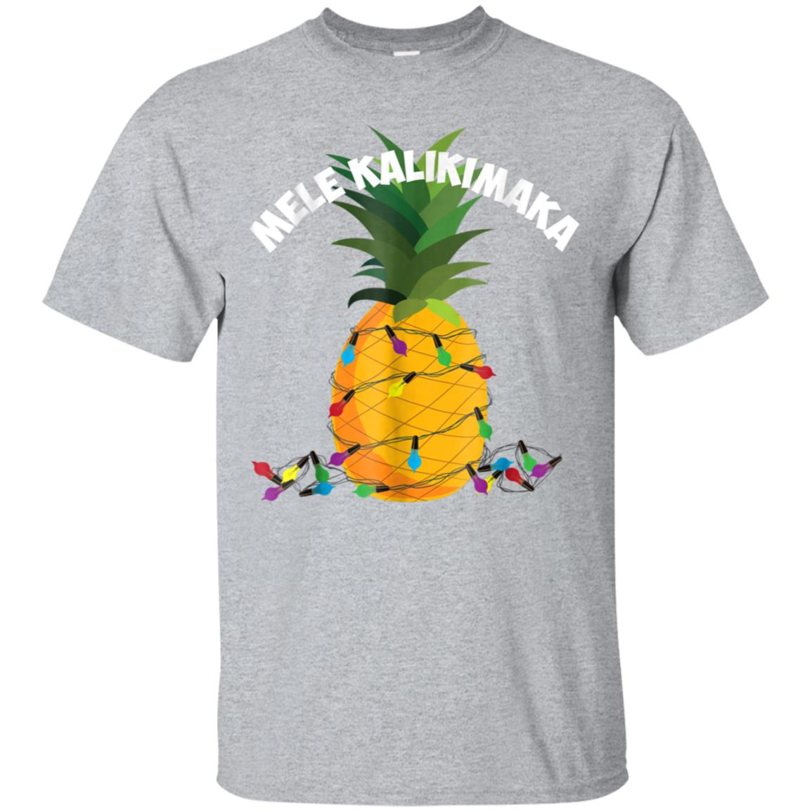 Mele Kalikimaka Shirt  Hawaiian X-Mas Pineapple Lights Gift 99promocode