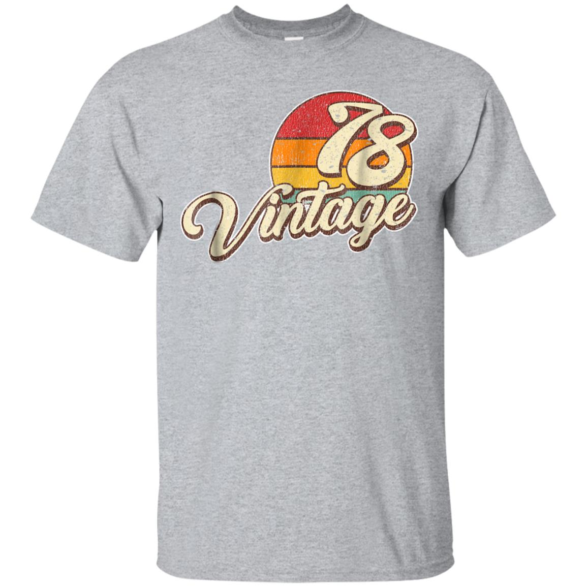 40th Birthday Gift Shirt Vintage 1978 99promocode