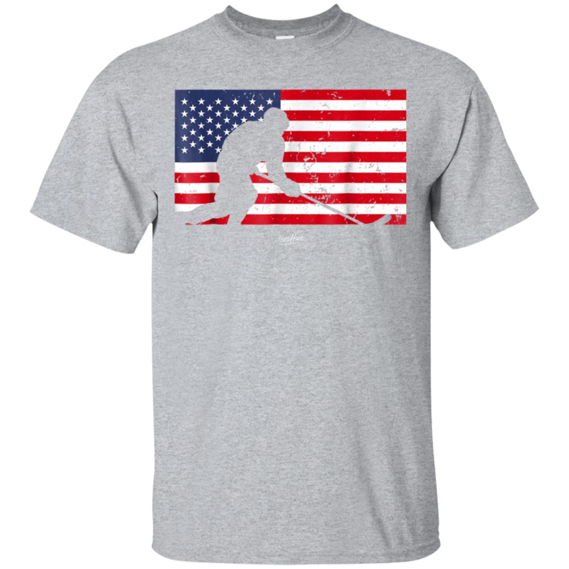 American Flag Hockey Player Hockey Fight Hockey Lover Shirt 99promocode