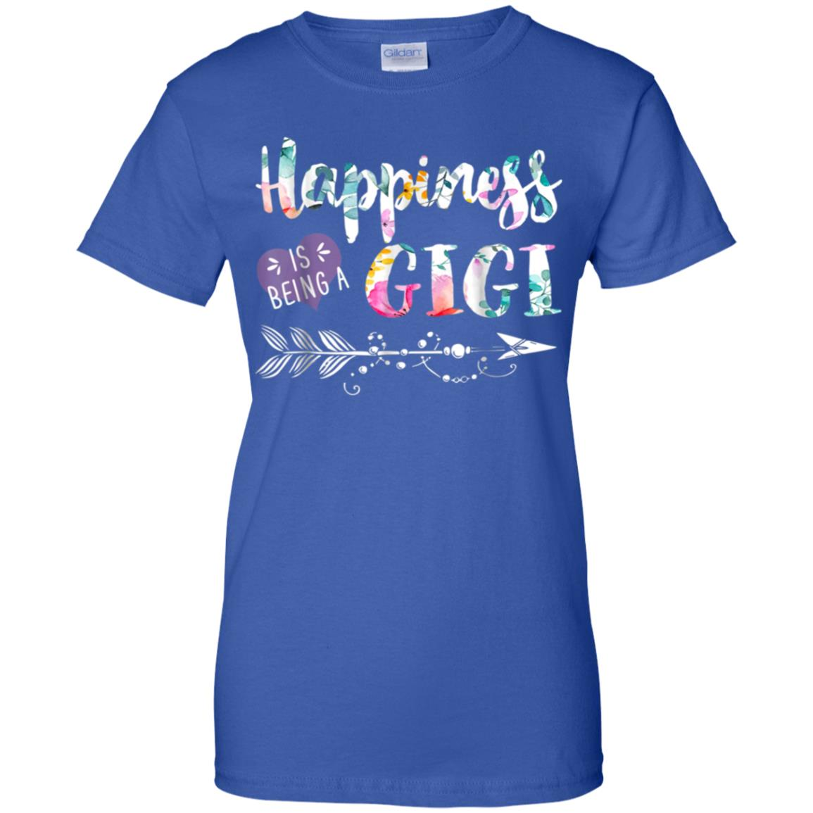 Happiness is Being a Gigi Shirt Cute Womens Grandma Tees 99promocode