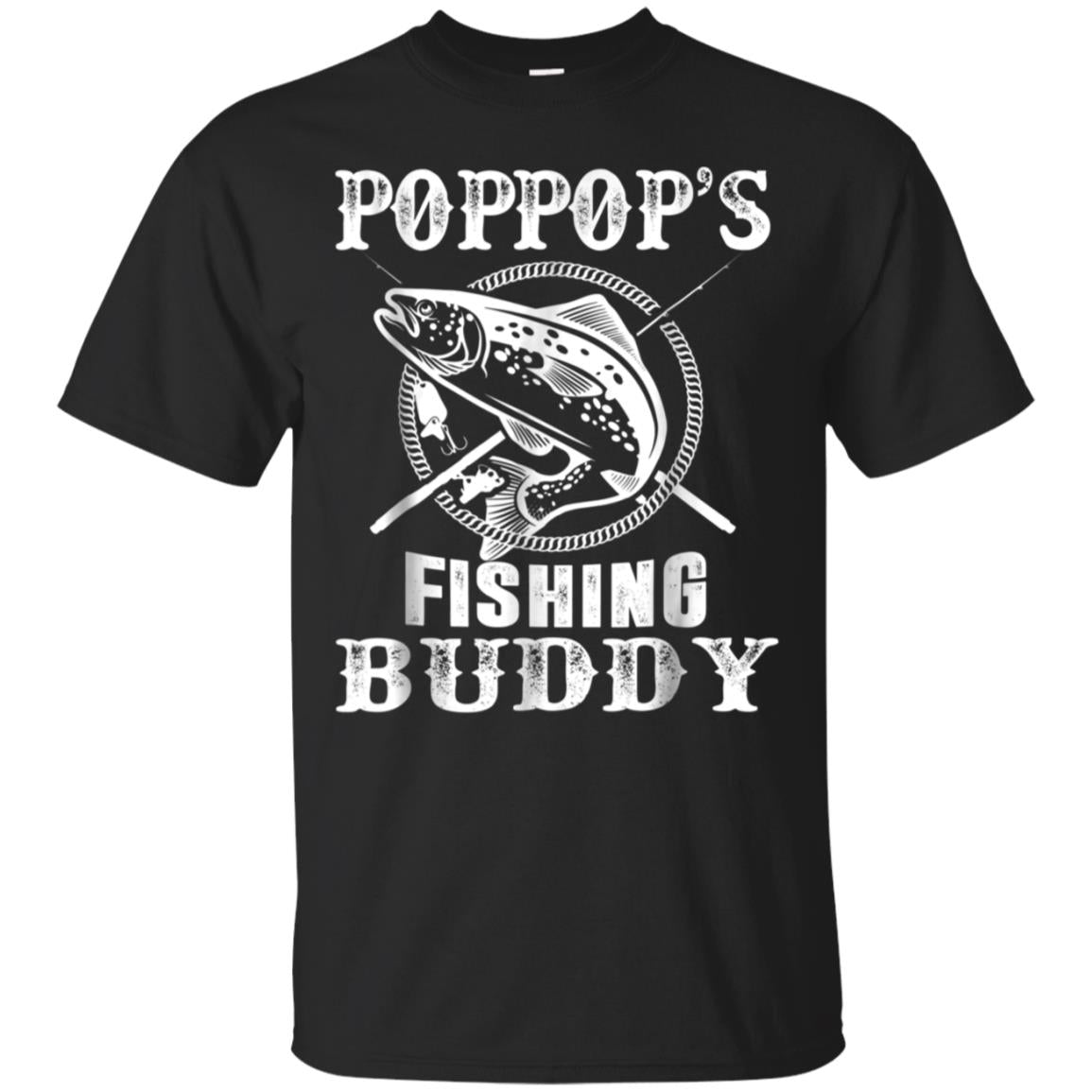 Pop Pop's Fishing Buddy T-Shirt Young Fisherman Gift Shirt 99promocode