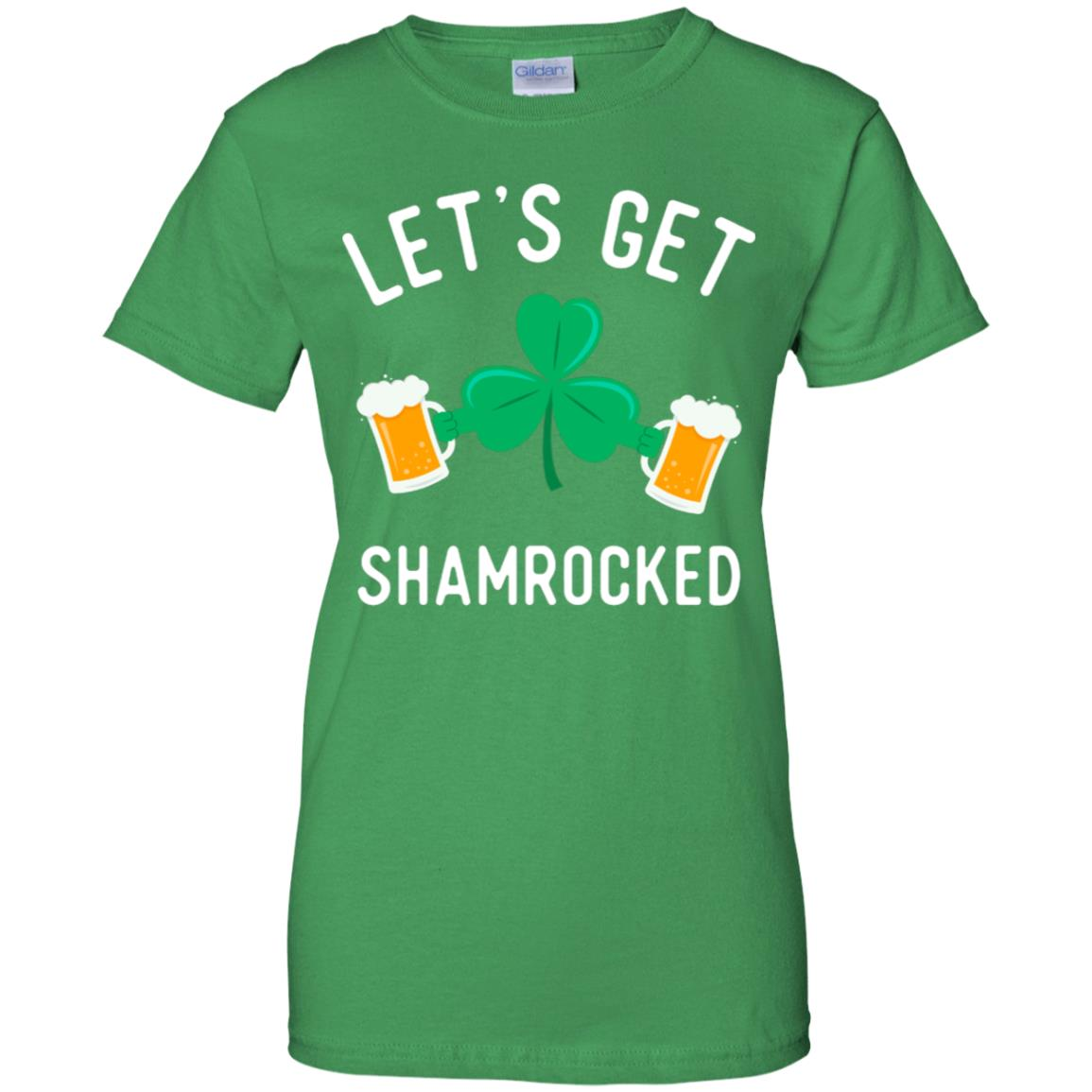 95ed53c19 Awesome let's get shamrocked funny shirt drinking team clover tee ...