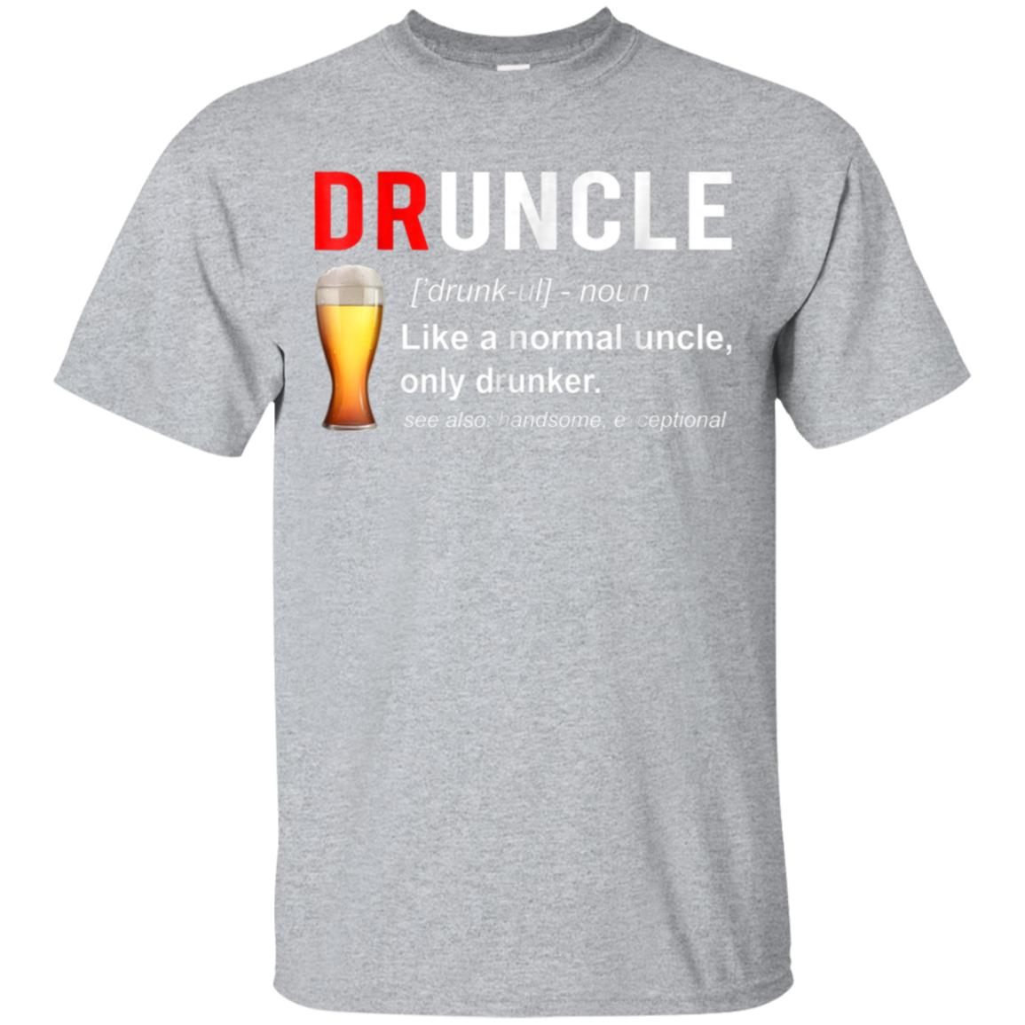 Mens Druncle Definition Funny Beer Lover T-shirt For Uncle 99promocode