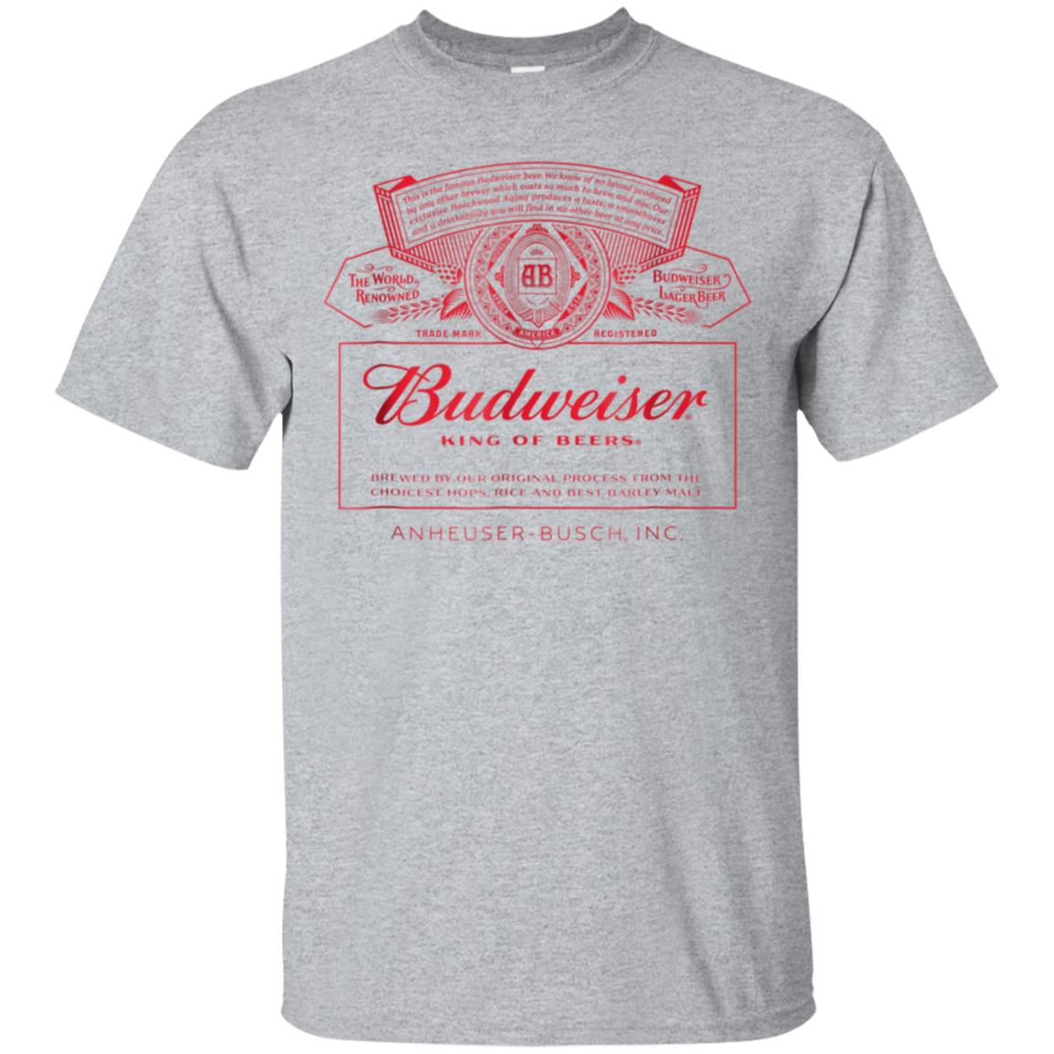 Budweiser Can Label T-Shirt 99promocode