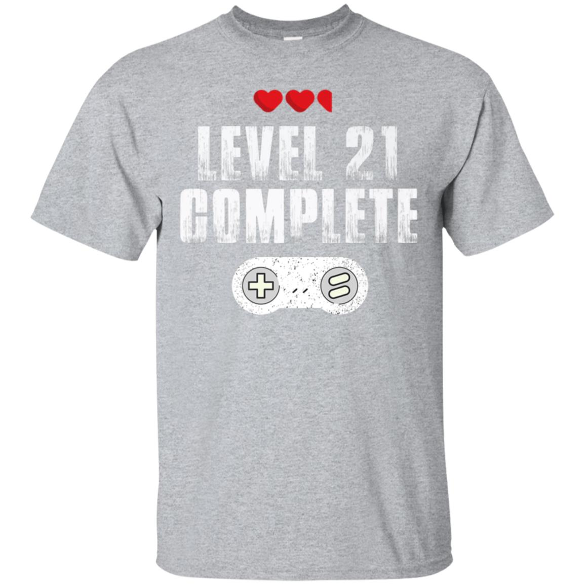 Awesome 21st Birthday Gift Shirts For Him And Her Level 21 Complete