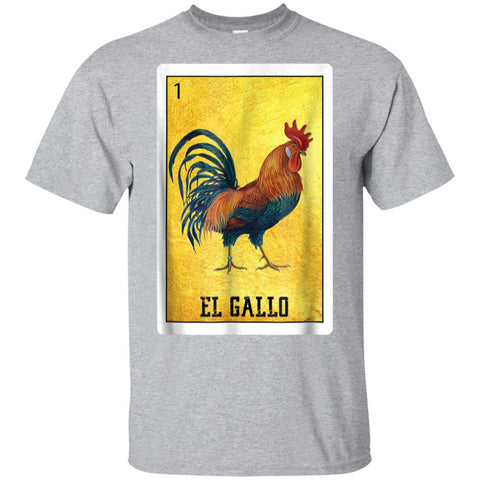 El Gallo Chicken Shirts Mexican Rooster Loteria Card T Shirt