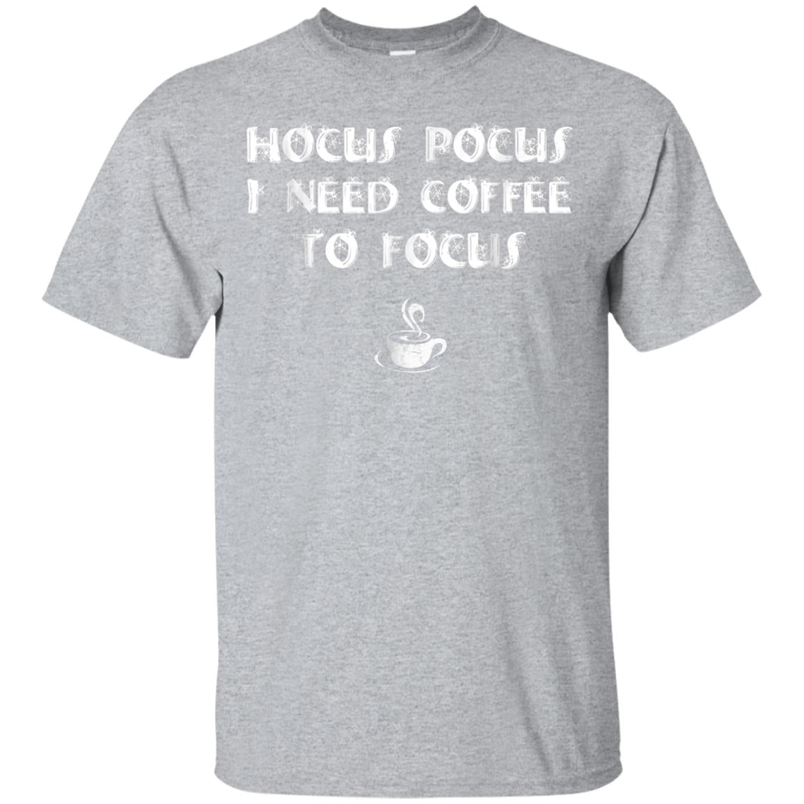 Hocus Pocus I Need Coffee To Focus Shirt Halloween Teacher 99promocode