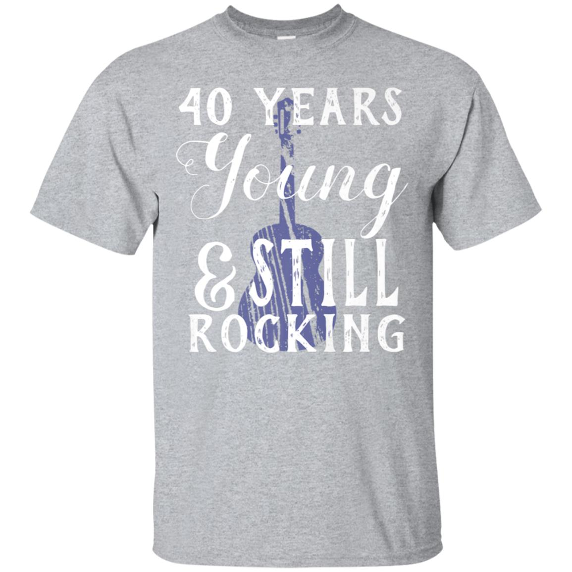 40 Years Old Still Rocking Guitar T-Shirt for 40th Birthday 99promocode