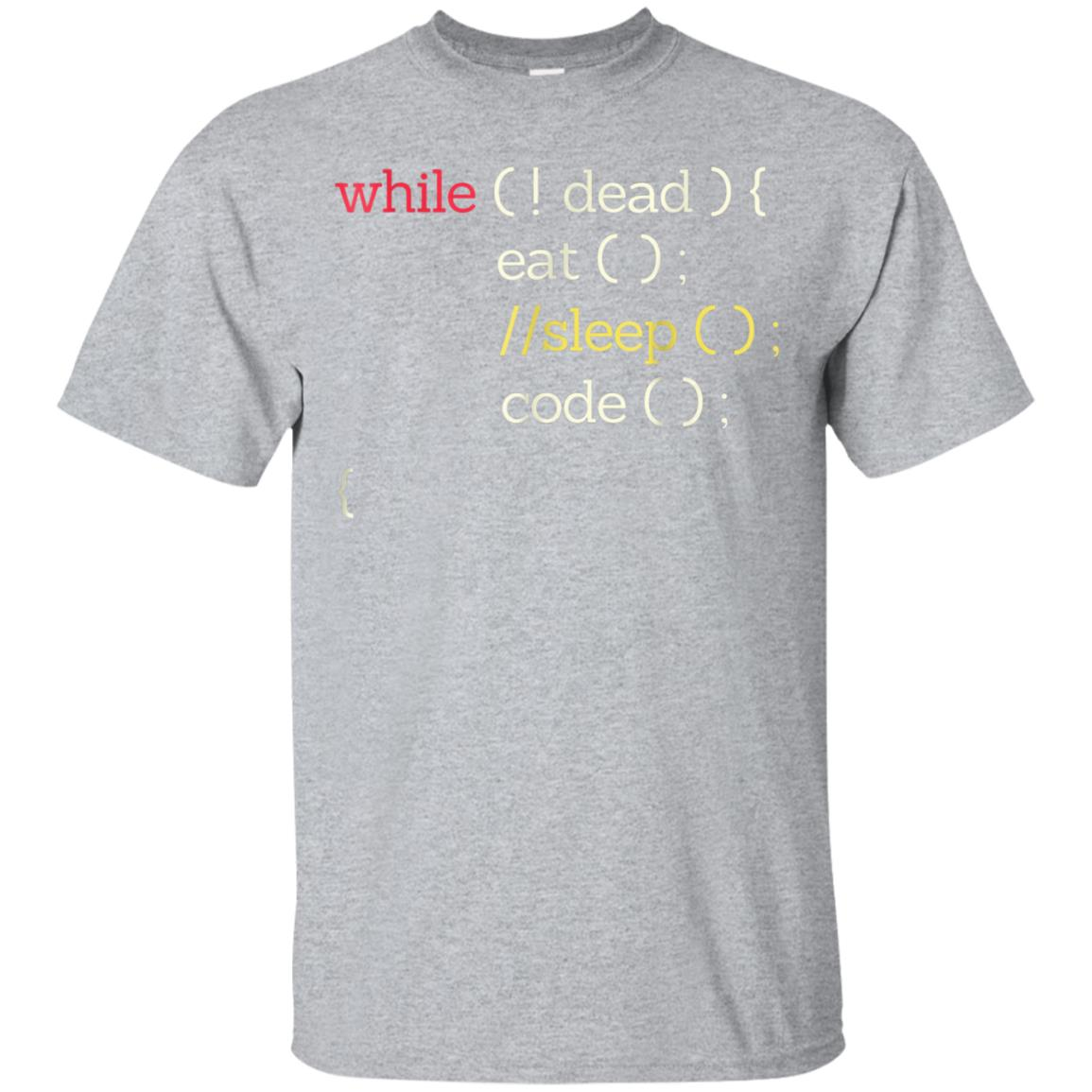 Awesome Eat Sleep Code Funny Computer Science Programmer T Shirt