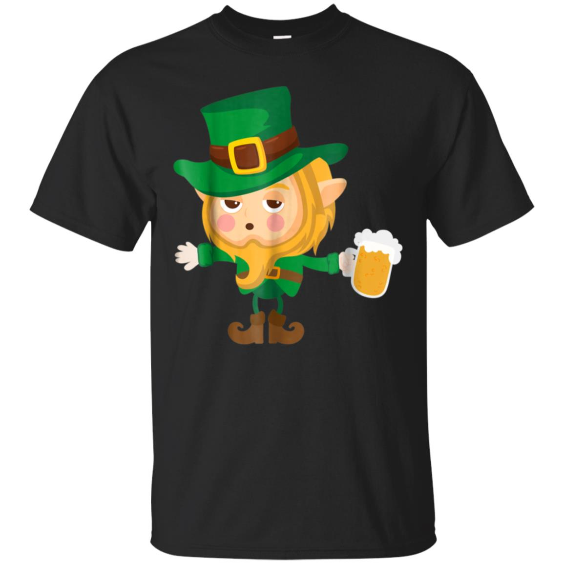 Cute Drunk Elf T-Shirt On Cool St. Patrick's Day For Kids 99promocode