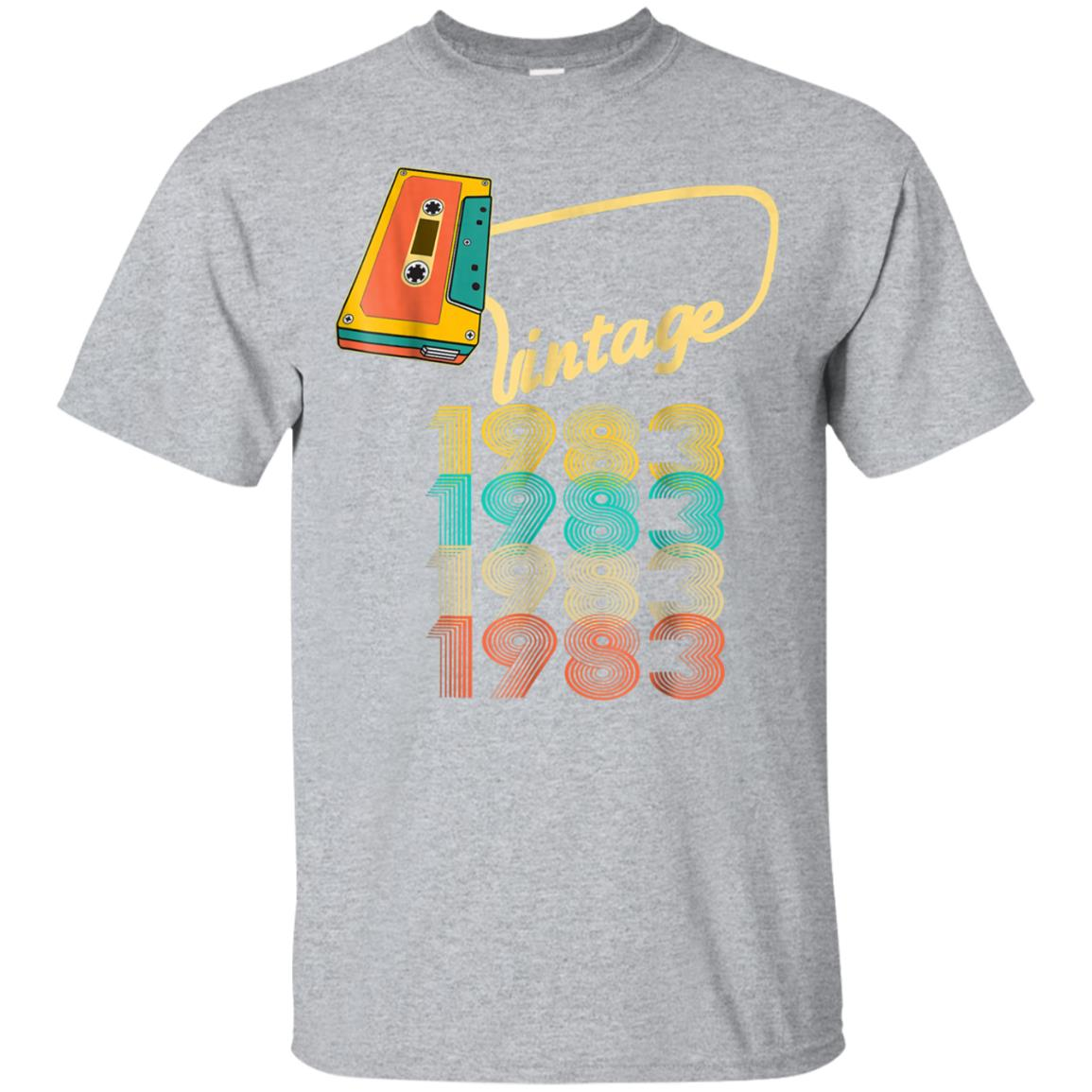 Vintage 1983 Shirt 35th Birthday Gifts 35 Years Old Awesome 99promocode