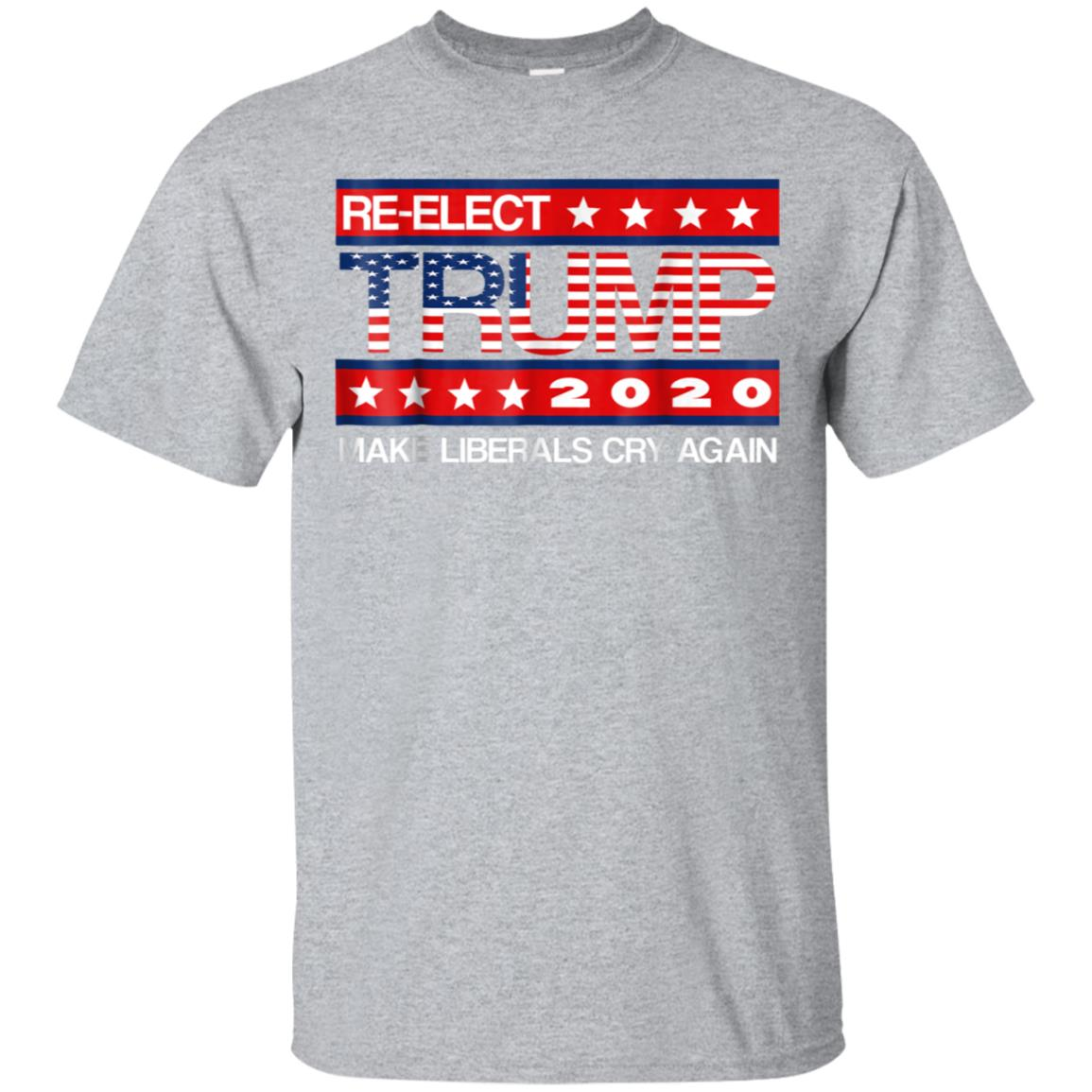 Donald Trump Election 2020 Make Liberals Cry Again GOP Shirt 99promocode