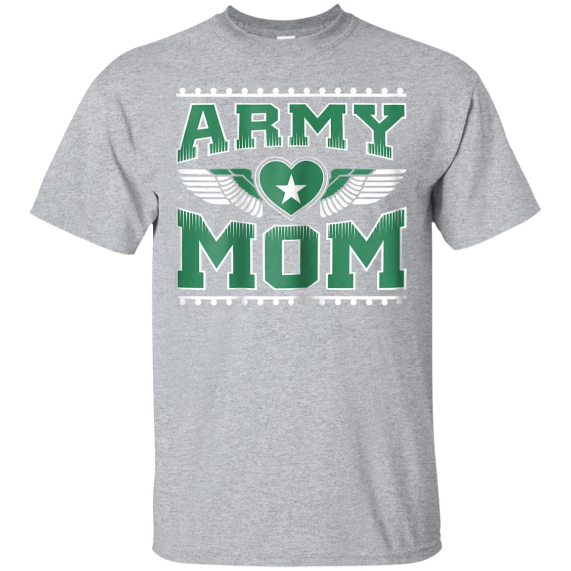 Awesome Womens Army Mom Shirt Military Mothers Day Birthday Gift